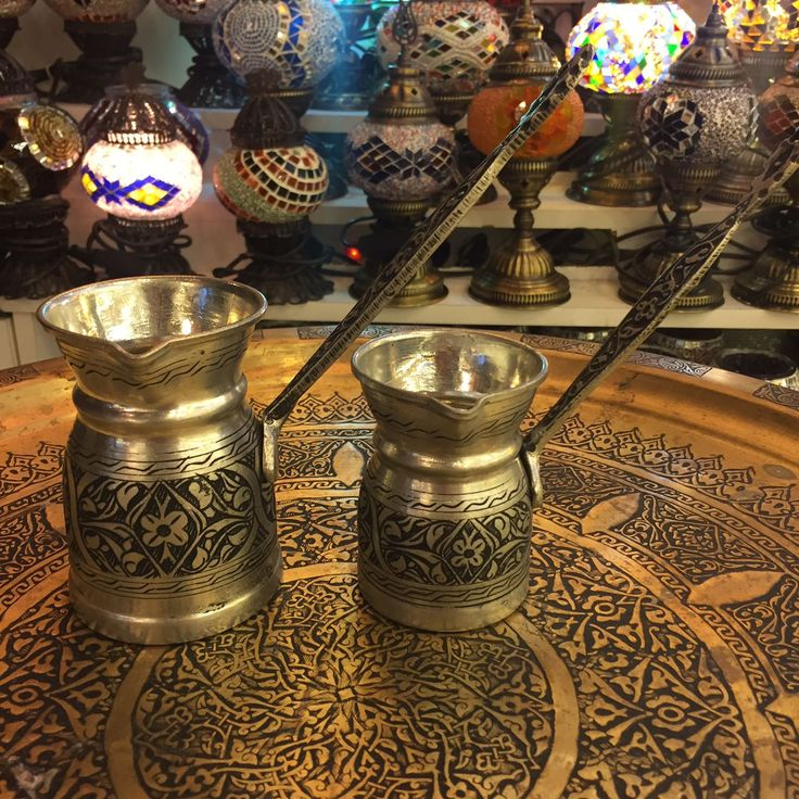 TURKISH COFFEE POT SET OF TWO, COPPER