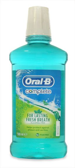 Oral B Complete Alcohol Free Fresh Mint Oral B Complete Alcohol Free Fresh Mint Mouthwash 500ml: Express Chemist offer fast delivery and friendly, reliable service. Buy Oral B Complete Alcohol Free Fresh Mint Mouthwash 500ml online from Exp http://www.MightGet.com/january-2017-11/oral-b-complete-alcohol-free-fresh-mint.asp