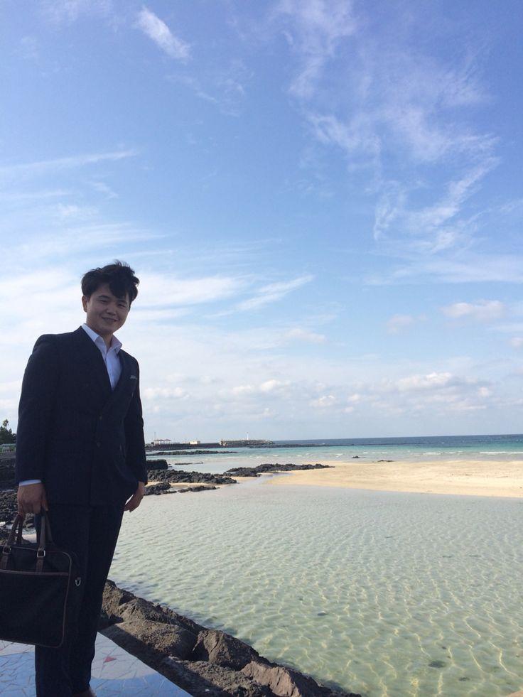 바다를 사랑한 아들 -함덕해수욕장에서- 20151007