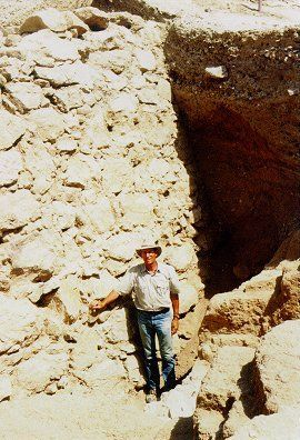 Bryant Wood at Jericho excavation.