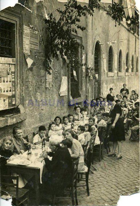Trastevere - Festa de noantri. Vintage Roma, Italy.