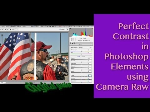 Photoshop Elements Quick Tip - Perfect Contrast using built-in Camera Raw editor