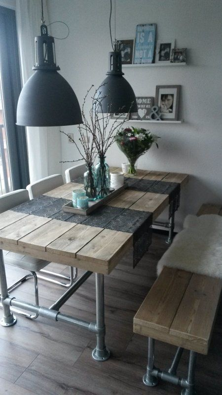 10 DIY Plumbing Pipes Decor Ideas for Your Home A set of dining table and bench can also be made with pipes