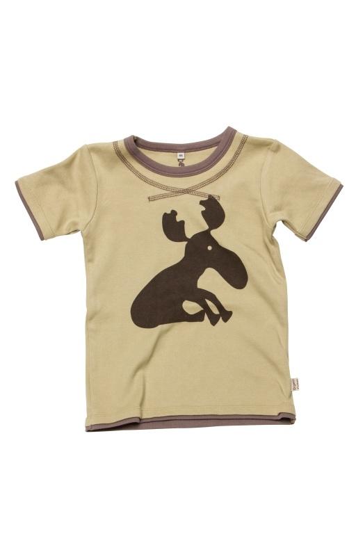 T-shirt K/Æ, stor elg tryk - bluser - Urban Elk