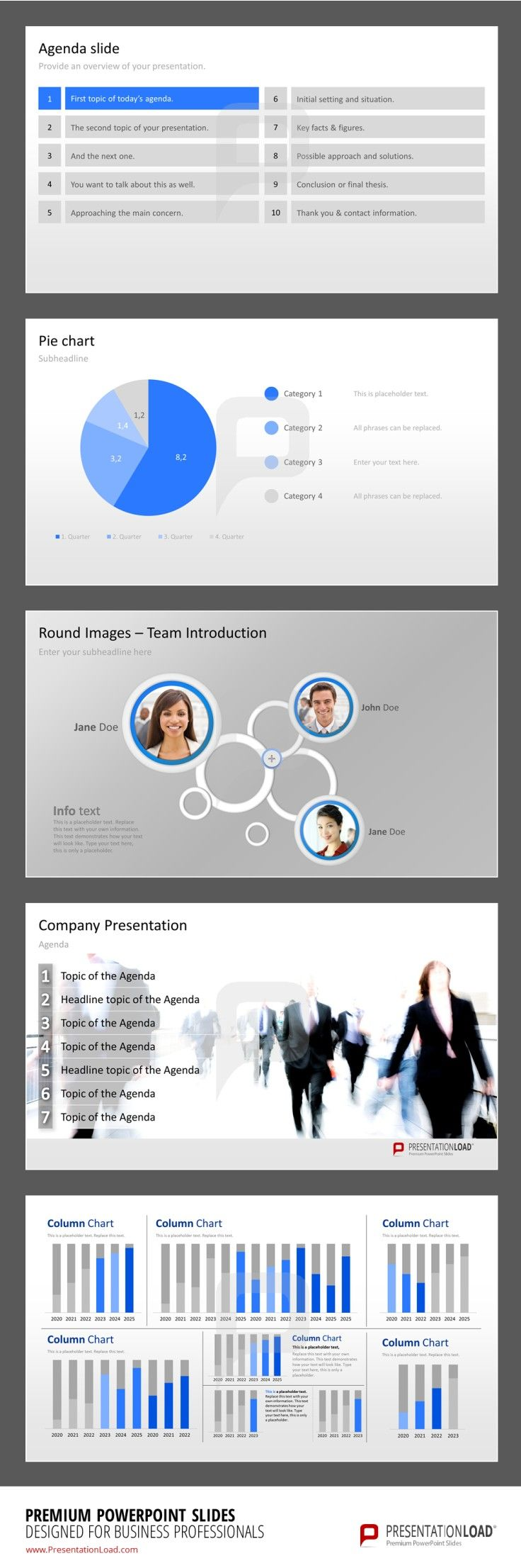 PowerPoint Templates from PresentationLoad  #presentationload http://www.presentationload.com/powerpoint-charts-diagrams/