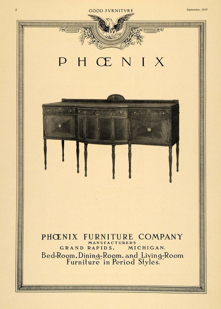 1917 Ad Buffet Table Sideboard Phoenix Furniture Co    ORIGINAL ADVERTISING  GF3. 18 best Vintage Ads images on Pinterest