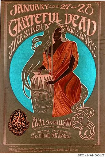 Grateful Dead and Quicksilver Messenger Service - Mr. Kelley and Stanley Mouse designed this poster.