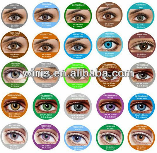 wholesale cheap Fresh Tone color contact Lenses / circle korean contact lenses for cosmetic accept paypal $1.5~$3.5