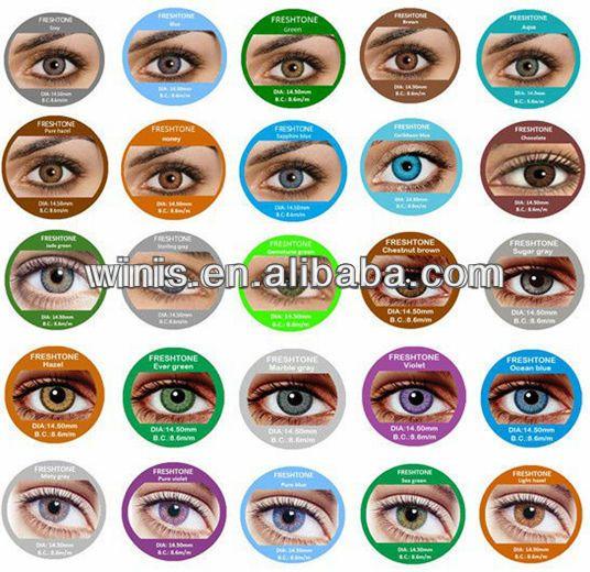 wholesale cheap Fresh Tone color contact Lenses / circle korean contact lenses for cosmetic accept paypal $1.5~$3.5