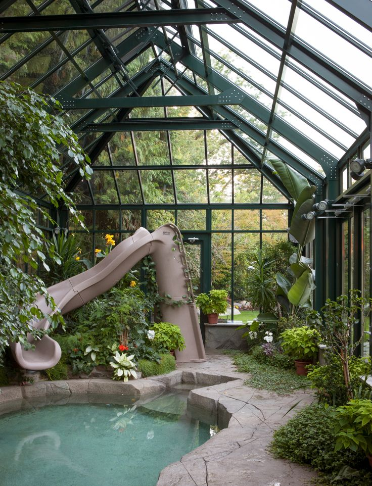 194 best images about awesome pools spas fountains on for Swimming pool greenhouse