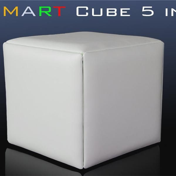 The Cube 5 In 1 Transforming 1 Ottoman Or 5 Chair In 2020 Cube Padded Stool Ottoman