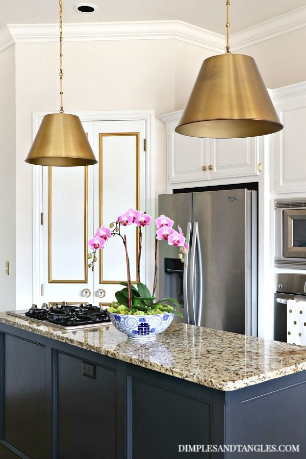 Brass Pendant Lights In The Kitchen Brass Kitchen Lighting