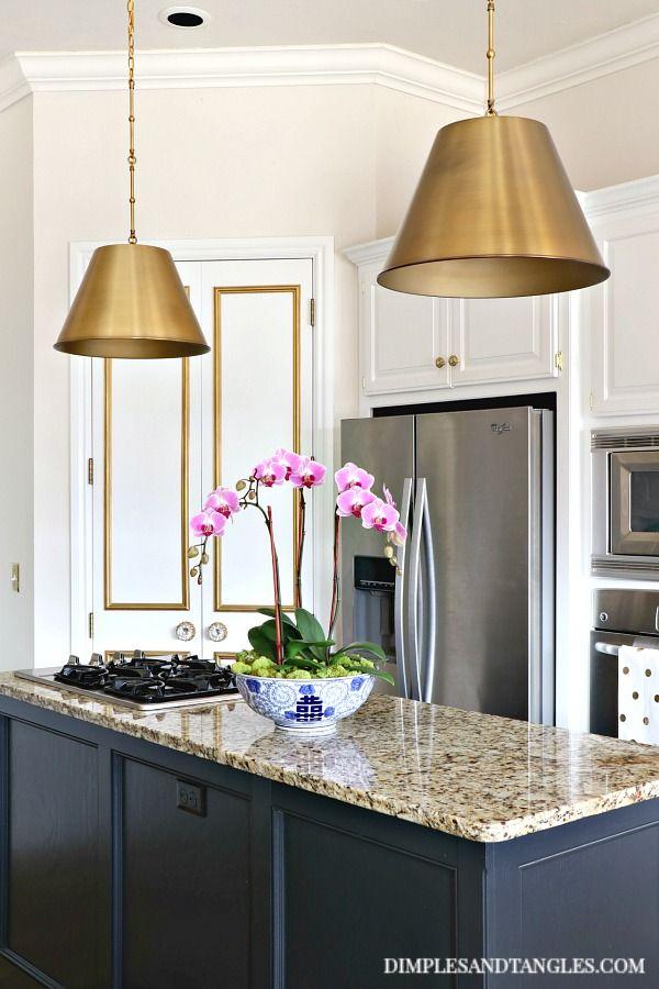Brass Pendant Lights In The Kitchen Kitchen Island Lighting Pendant Rustic Kitchen Lighting Kitchen Lighting Remodel
