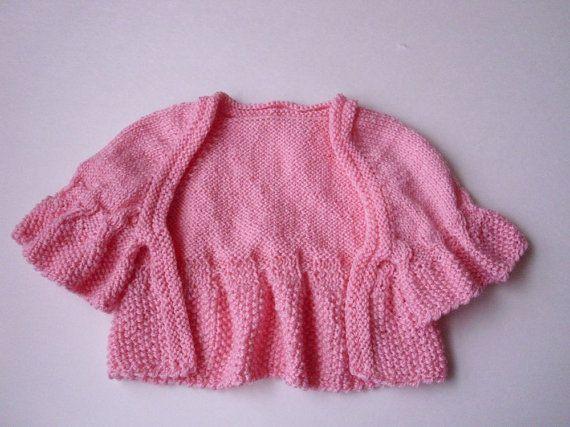 EASTER Baby sweater  shrug  bolero .  1824  by MarikaHandKnits, $32.00