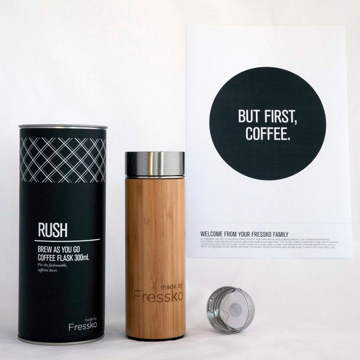 This ultra chic Coffee Flask is the ultimate on-the-go solution for coffee and tea drinkers. A filter below the lid converts your water bottle into a 'brew as you go' loose tea flask.