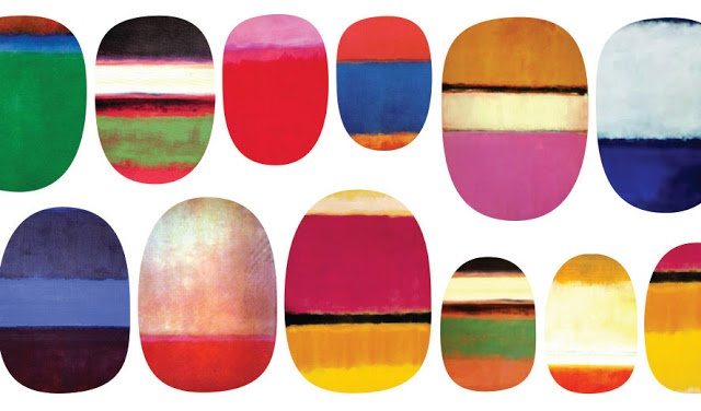 Rothko inspired nail decals.