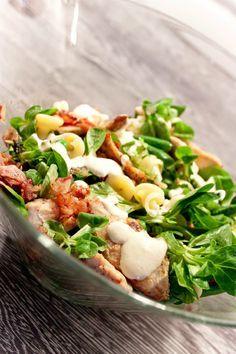 Cucinare con amore: Těstovinový salát s kuřetem a sýrovým dresingem