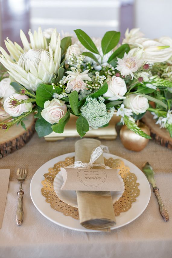 Gold and metallic wedding and party ideas | Styling and photo by Melanie Wessels Photography | 100 Layer Cake