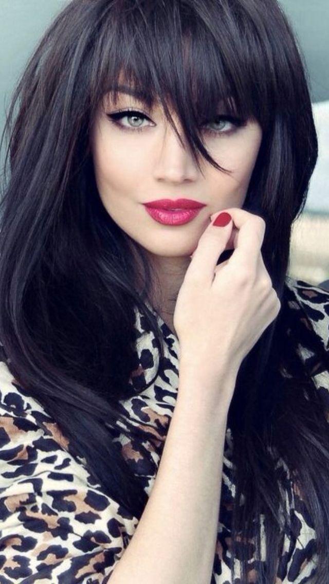 Pretty Hairstyles For Black Hair Interesting Bangs Stunning Hairstyles For Black Hair 2019 Frisuren Fur Schwarze Haare Lange Dunkle Haare Einzigartige Frisuren