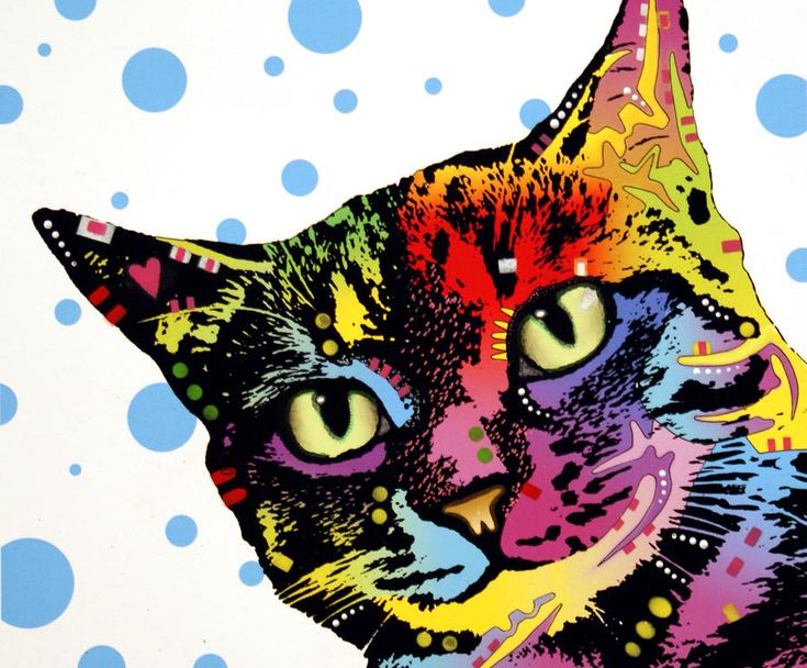 The Pop Cat Painting by Dean Russo