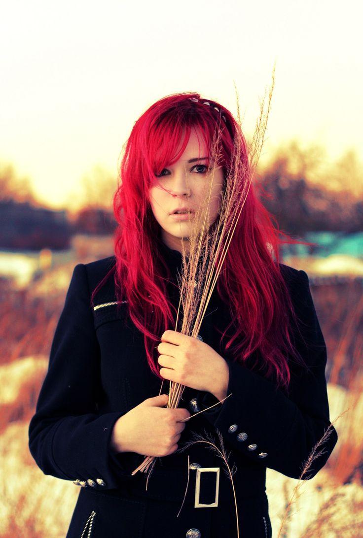 #color hair #colorhair #red hair #redhair #girl #portrait  #цветные волосы #цветныеволосы #красные волосы #красныеволосы #девушка #портрет #mf #missforiz #nature #природа #поле