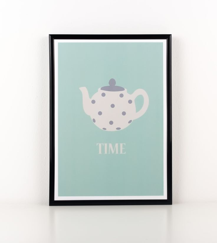 This Tea Time poster is perfect for tea lovers all over the world who would simply adore this print. Hang it in your kitchen or your dining area to accompany that first warm sip in the morning.