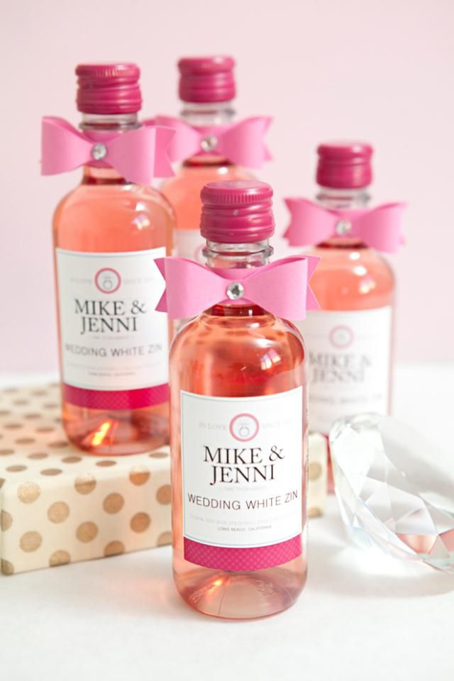 Make Your Own Custom Wine Labels for Free: Mini Wine Bottle Labels from Something Turquoise