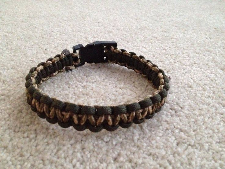 Paracord Dog collar Olive and Camo
