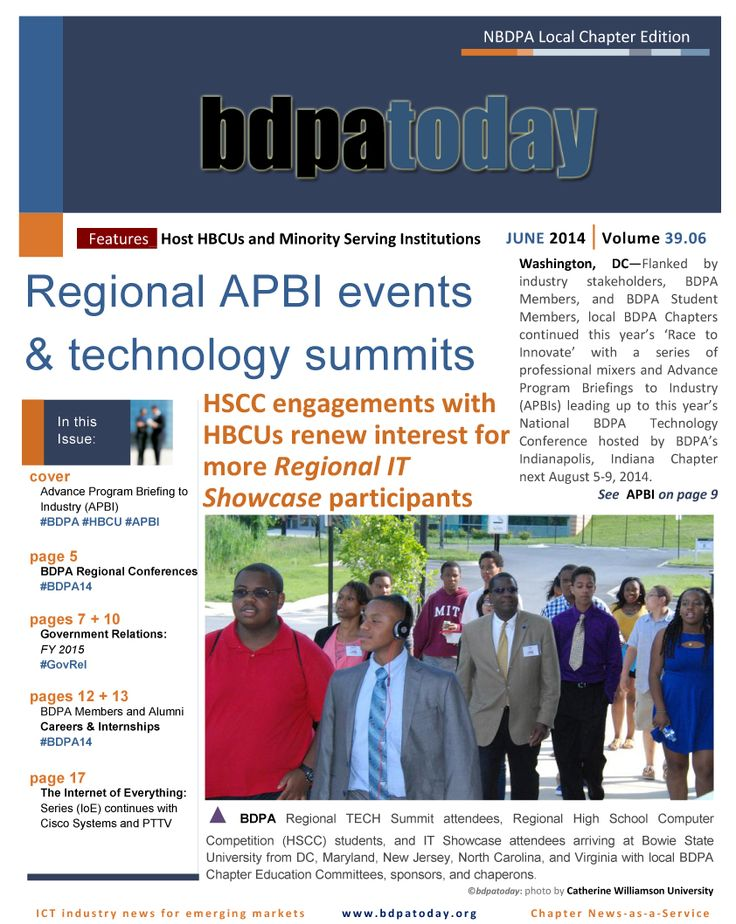 June's edition of #bdpatoday features Regional #TECH summits, #government relations and #HBCU TECH-Inclusion engagements with industry. Participation …