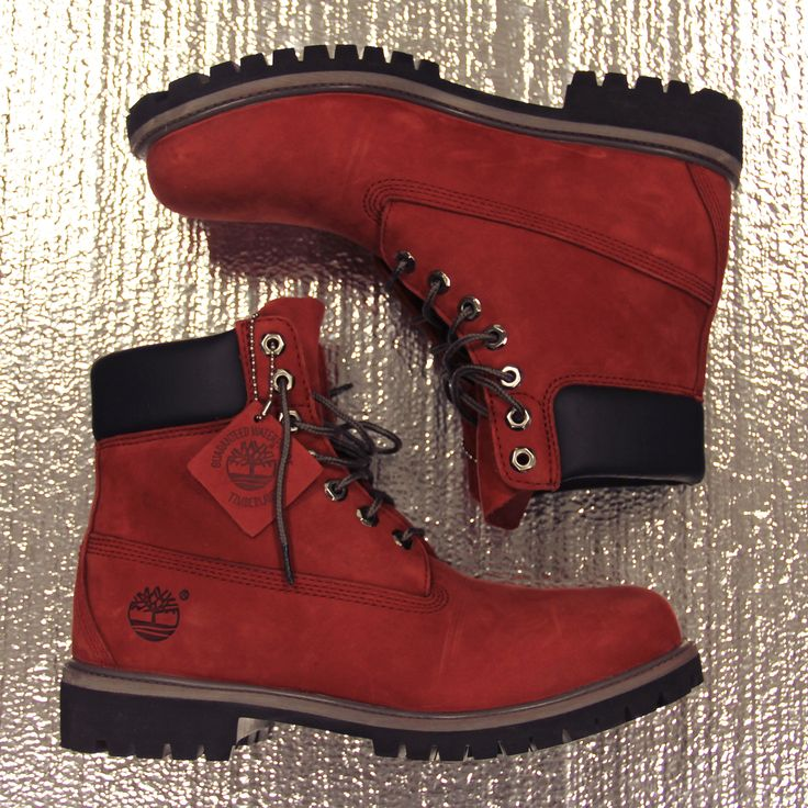 Our classic 6 inch, in rich red. timberland
