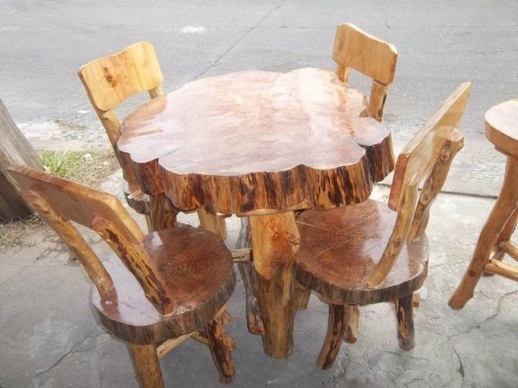 61 mejores im genes sobre mesas de madera en pinterest for Mesas de troncos de madera