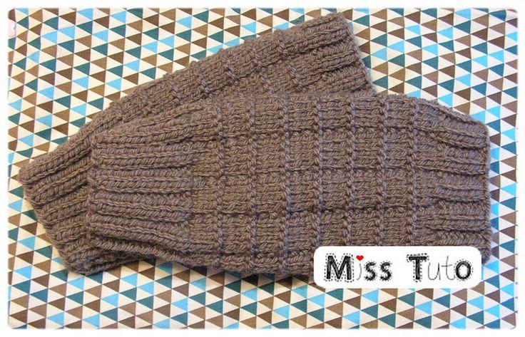 Tuto gratuit des mitaines pour homme tricotées tricot