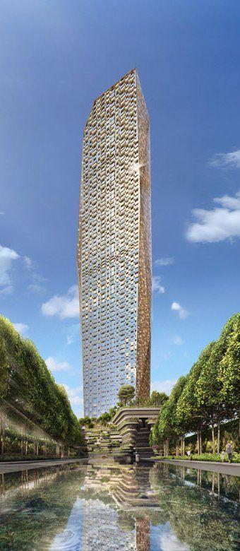 Trump Tower, Mumbai designed by WOHA Architects :: 75 floors