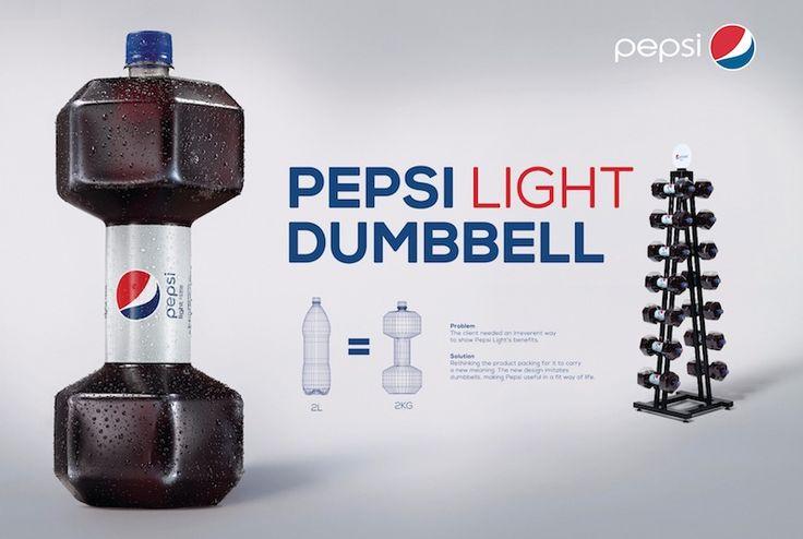 [Pub] Quand Pepsi Light réinvente la bouteille - un bel exemple de marketing contextuel #ad #design