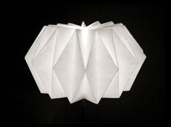"Origami Lamp that's actually something a fairly ""normal"" person can do!"