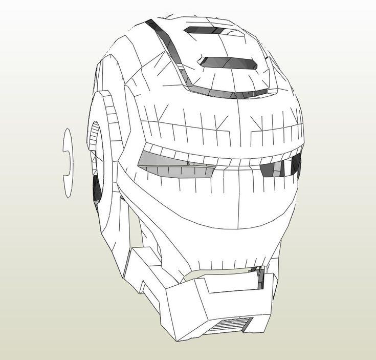 Papercraft .pdo file template for Iron Man - War Machine ...