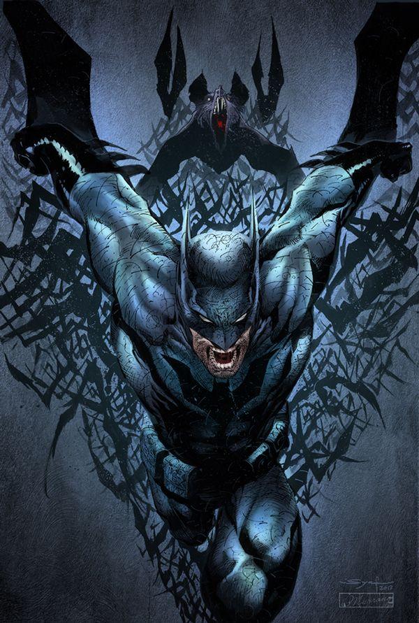 Batman by Adrian Syaf by Robbie Muyrong, via Behance