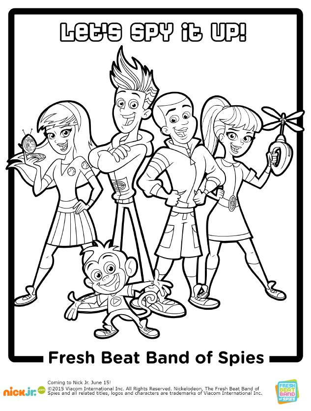 fresh beat band coloring pages - 19 best images about fresh beat band of spies on pinterest