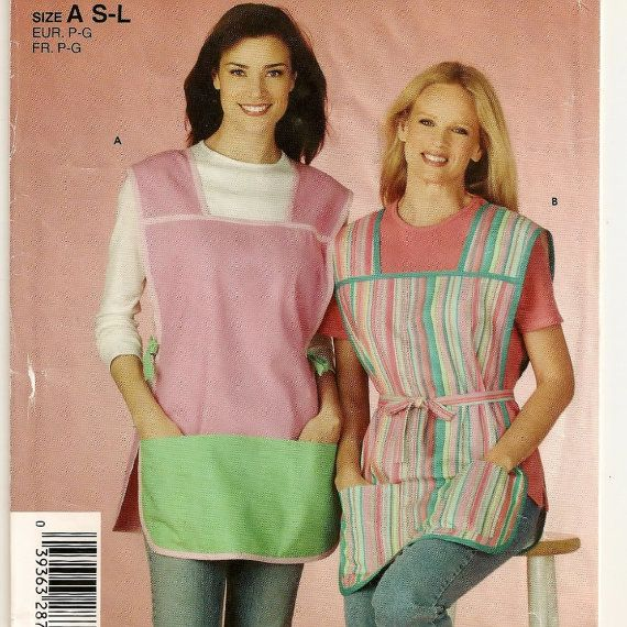 Simplicity 4734, A Cobbler-Style, Front-to-Back Apron Pattern for Women w/Pocket & Tie Variations by So Sew Some!