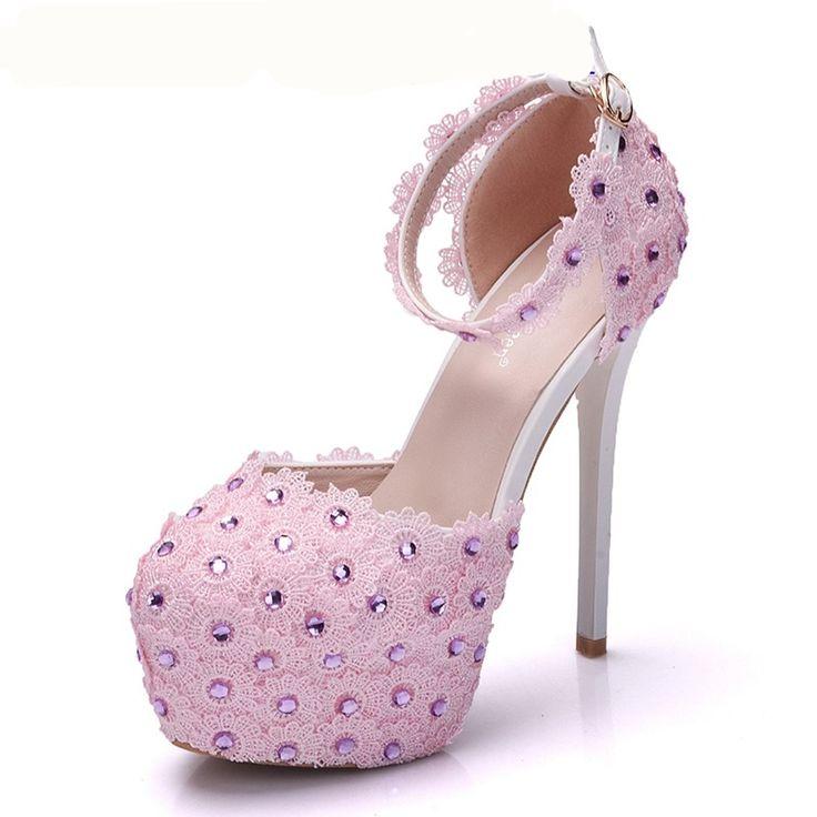 $71.99 Dresswe.com SUPPLIES Line-Style Buckle Low-Cut Upper Rhinestone Wedding  Shoes