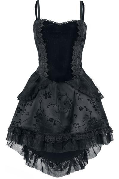 Lovely velvet and taffeta dress by Burleska