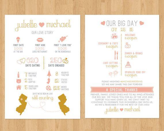 Infographic Wedding Program Printable Pdf Timeline Fun
