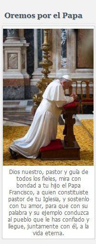 Oraciones por el Papa Francisco