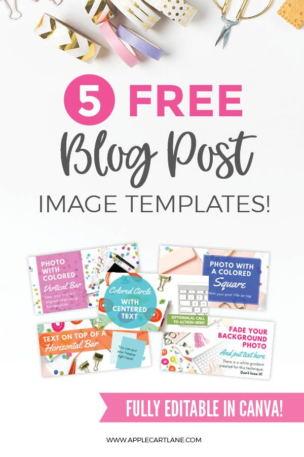 Free Blog Post Image Templates Blog Post Template Free