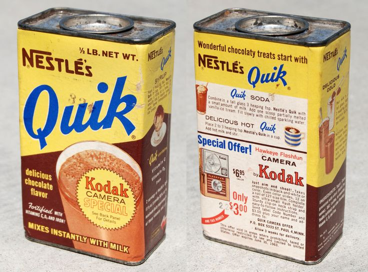 Nestle's Quik vintage tin can 1962