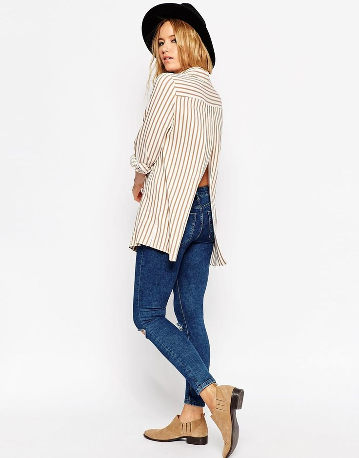 ASOS+Open+Back+Shirt+in+Stripe