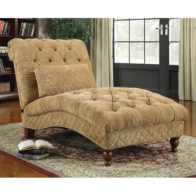 $619 Golden Send Chenille Chaise Coaster Furniture | Furniture Cart  sc 1 st  Pinterest : reading chaise lounge - Sectionals, Sofas & Couches
