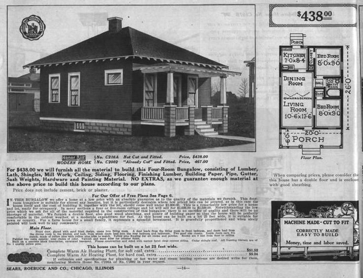 Build like it 39 s 1925 go bungalow for House kit plans