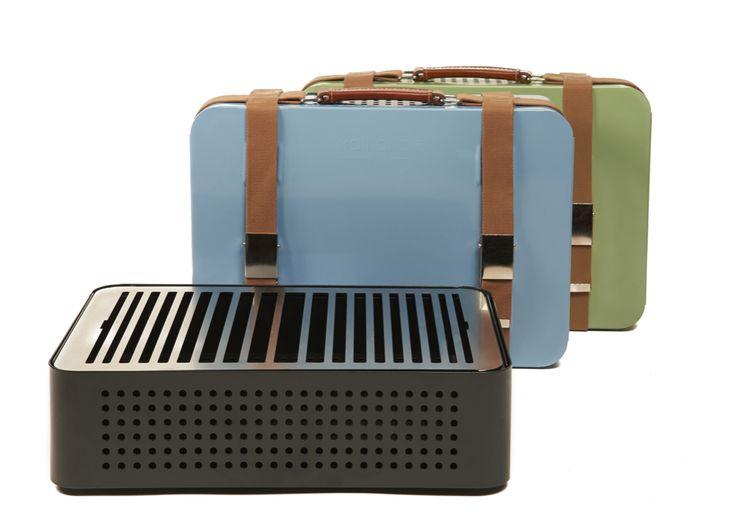 """""""Mon oncle"""", barbecue portable à charbon de bois (44 x 32 cm), RS Barcelona chez Made in design. 270 euros."""