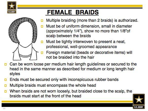 Army natural hair regulation